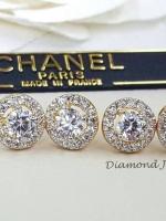 พร้อมส่ง Diamond Earring ต่างหูเพชรสวิสแท้ เพชรน้ำงามเหมือนแท้