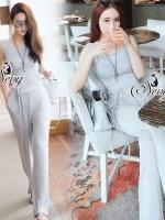 เสื้อผ้าเกาหลี พร้อมส่งCasual Knit Vest With Pants Sets