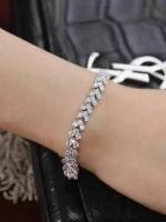 พร้อมส่ง Diamond Bracelet สร้อยข้อมือเพชร CZ แท้