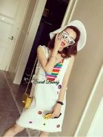 Petite Rainbow Dress Set