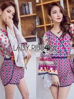 Issue Cassandra Colourful Printed Kimono Playsuit