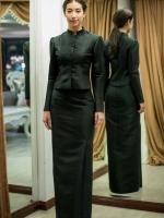 เสื้อผ้ามาแรง พร้อมส่งชุดไทยจิตรดางานเย็บฝีมือปราณีตมี 2 แบบให้เลือกใส่ค่ะ