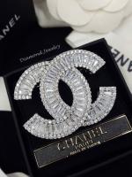 พร้อมส่ง เข็มกลัด/จี้ แบรนด์ Chanel งานเพชร CZ แท้