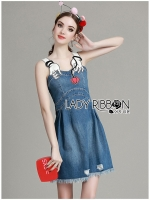 Claudia Playful Chic Embroidered Denim Dress