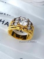 พร้อมส่ง Diamond Ring งานเพชรสวิส งานชุบม5 ไมครอน
