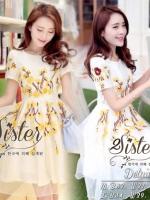 White Lovely Beauty Dress With Flora Beauty Knitt