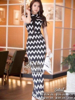 Black & White Comfortable Cuties Maxi Dress