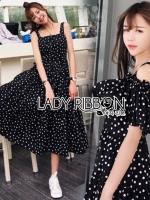 Finn Two-Way Black & White Polkadot Layered Cotton Dress