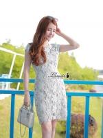 Cutie flower lace feminine dress