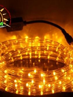ไฟสายยางท่อกลม 10 ม. สีเหลือง