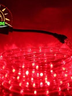 ไฟสายยางท่อกลม 10 ม. สีแดง