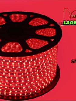 ไฟสายยาง SMD 5050 (50 m.) สีแดง (ท่อแบน)