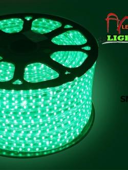 ไฟสายยาง SMD 5050 (50 m.) สีเขียว (ท่อแบน)