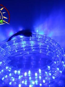 ไฟสายยางท่อกลม 10 ม. สีฟ้า