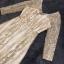 ชุดเดรสเกาหลี พร้อมส่งMorgan Luxury Golden Dress thumbnail 8