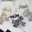 พร้อมส่ง Ribbon Brooch &Earring เข็มกลัด/ต่างหู ชาแนล โบว์ มี logo งานขายดีมาก ฝังCZแท้ thumbnail 1