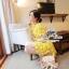 เสื้อผ้าเกาหลี พร้อมส่ง เดรสลูกไม้โครเชต์ ทอแน่นละเอียด thumbnail 2