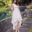 ชุดเดรสเกาหลี พร้อมส่ง Long Dress ช่วงบนทำด้วยผ้าตาข่ายลายลูกไม้ thumbnail 2