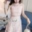 ชุดเดรสเกาหลี พร้อมส่งPastel Pinky Cami Lace Dress thumbnail 4