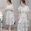 เสื้อผ้าเกาหลี พร้อมส่ง Clara Shoulder Off Top + Skirt Set thumbnail 5