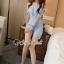 เสื้อผ้าแฟชั่นเกาหลีพร้อมส่ง จั้มสูทกางเกงขาสั้นทรงสวย thumbnail 4