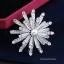 พร้อมส่ง Diamond Brooch เข็มกลัดงานเพชร CZ แท้ประดับมุก thumbnail 4