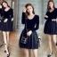 ชุดเดรสเกาหลี พร้อมส่งCendrillon Pricess Black Dress thumbnail 4