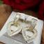 พร้อมส่ง Diamond Earring งานเพชร CZ แท้ ดีไซส์หัวใจ thumbnail 3