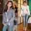 เสื้อผ้าเกาหลี พร้อมส่งเสื้อกันหนาวผ้าทอไหมพรมเนื้อดี thumbnail 2