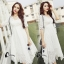 ชุดเดรสเกาหลี พร้อมส่งlong dress สีขาวยาว แขน 3 thumbnail 6