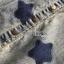 ชุดเดรสเกาหลี พร้อมส่งเดรสผ้าเดนิมสกรีนลายดาวทับเสื้อลูกไม้สีขาว thumbnail 13