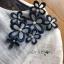 ชุดเดรสเกาหลีพร้อมส่ง เดรสผ้าซิลค์คอตตอนสีขาว-น้ำเงินปักตกแต่งดอกไม้ thumbnail 10