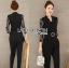 เสื้อผ้าเกาหลี พร้อมส่งจัมป์สูทสีดำตกแต่งลูกไม้สไตล์สมาร์ทแคชชวล thumbnail 7