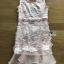 ชุดเดรสเกาหลีพร้อมส่ง เดรสผ้าลูกไม้และออร์แกนซ่าสีชมพูส้มโอลด์โรส thumbnail 13