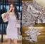 ชุดเดรสเกาหลี พร้อมส่งเดรสผ้าลูกไม้สีชมพูทรงแขนบานสไตล์สมาร์ทเฟมินีน thumbnail 9