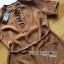 เสื้อผ้าเกาหลี พร้อมส่งจัมป์สูทขายาวตกแต่งเชือกผูกสไตล์มินิมัลชิค thumbnail 13