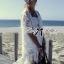 Nicole Elegant Fringed Lace-Organza Poncho thumbnail 5