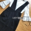 เสื้อผ้าแฟชั่นพร้อมส่ง เสื้อผ้าลูกไม้สีขาวทับด้วยเดรสสีดำตกแต่งลูกไม้ thumbnail 7