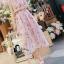 ชุดเดรสเกาหลี พร้อมส่งlong dress สีหวานสายเดี่ยวแบบผูก thumbnail 2