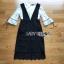 เสื้อผ้าแฟชั่นพร้อมส่ง เสื้อผ้าลูกไม้สีขาวทับด้วยเดรสสีดำตกแต่งลูกไม้ thumbnail 12