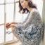 ชุดเดรสเกาหลี พร้อมส่งเดรสผ้าลูกไม้สีเทาอมฟ้าไลแล็คสไตล์แบรนด์ Self-Portrait thumbnail 11