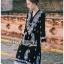 ชุดเดรสเกาหลี พร้อมส่ง เดรสสีดำปักลายลูกน้ำสไตล์โบฮีเมียน thumbnail 1