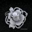 พร้อมส่ง เข็มกลัดดอกกุหลาบประดับมุก thumbnail 2