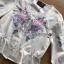 เสื้อผ้าเกาหลี พร้อมส่งเสื้อผ้าคอตตอนปักลายดอกกุหลาบสไตล์วินเทจ thumbnail 7