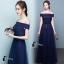 ชุดเดรสเกาหลี พร้อมส่งNavy Diamond Extra Luxury Dress thumbnail 5