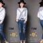 เสื้อผ้าเกาหลี พร้อมส่งกางเกงยีนส์ทรงเดฟ ผ้ายีนส์ฮ่องกง thumbnail 7