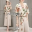 เสื้อผ้าเกาหลี พร้อมส่งเซ็ตเสื้อพิมพ์ลายดอกไม้สไตล์วินเทจและกางเกงทรง culottes ลุคนี้มาแบบเข้าชุด thumbnail 4
