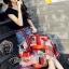 เสื้อผ้าเกาหลีพร้อมส่ง Sheila Black Top + Denim Skirt thumbnail 5