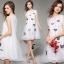 ชุดเดรสเกาหลี พร้อมส่ง3D Butterfly Luxury Dress thumbnail 5