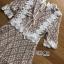 ชุดเดรสเกาหลี พร้อมส่งมินิเดรสผ้าลูกไม้สีชมพูนู๊ดซับในสีเนื้อสไตล์เฟมินีน thumbnail 5